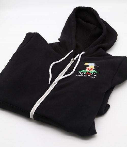 Mychal's Learning Place Black Zipper Hoodie