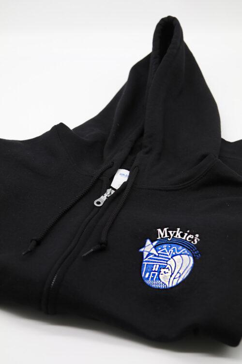 Mykie's Black Zipper Hoodie