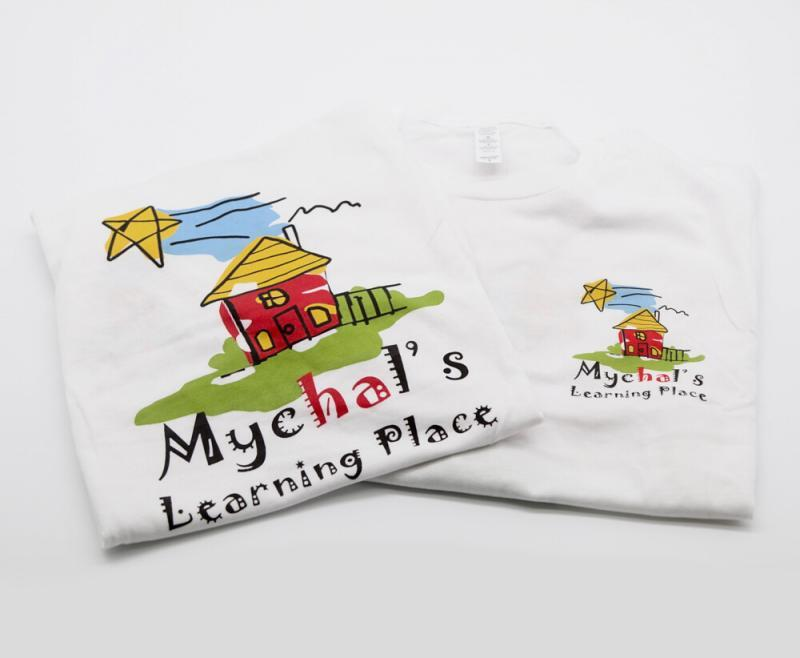 Mychal's Learning Place White T-Shirts