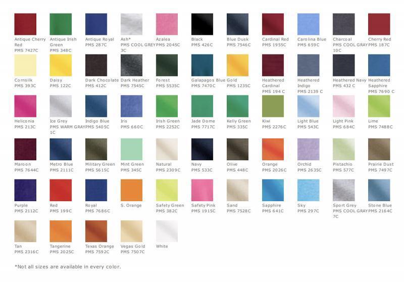 Gildan2000 colors